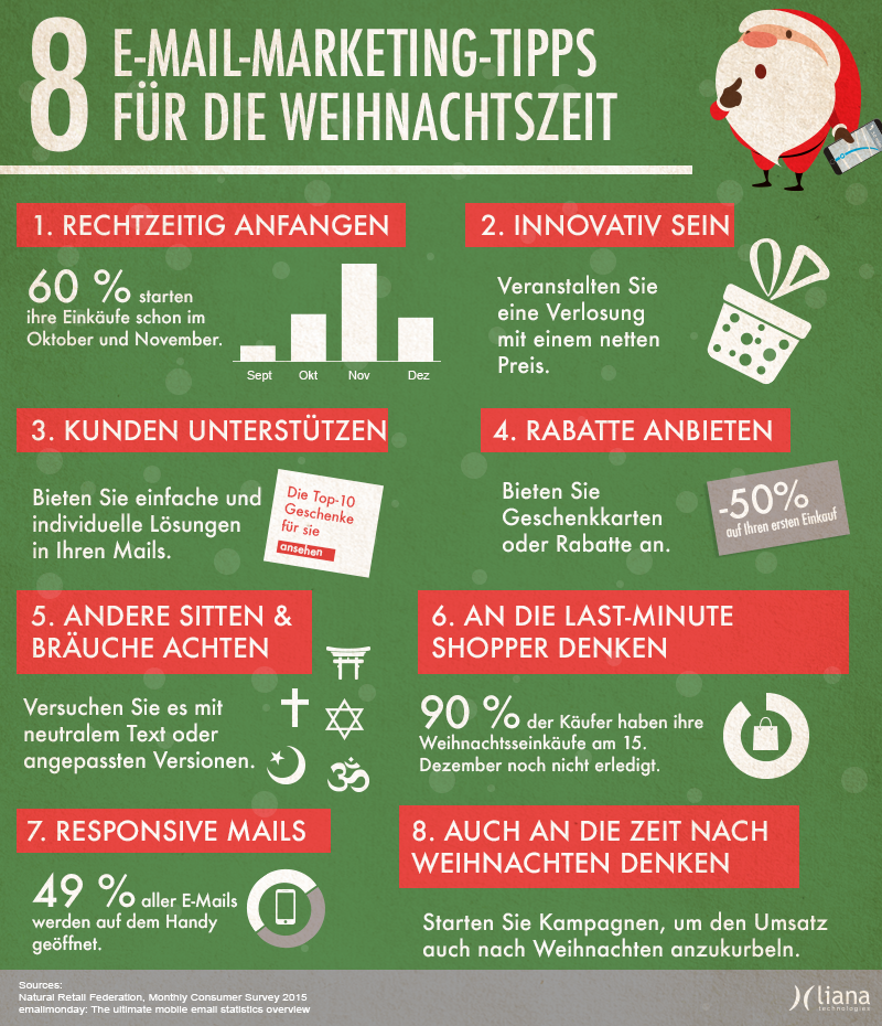 Email-Marketing-Tipps Weihnachten