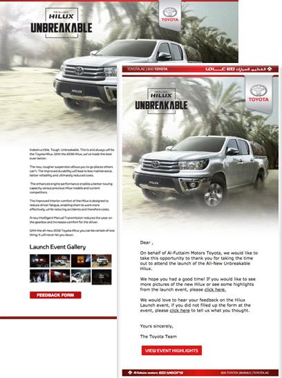 Marketing Automation für Event Toyota