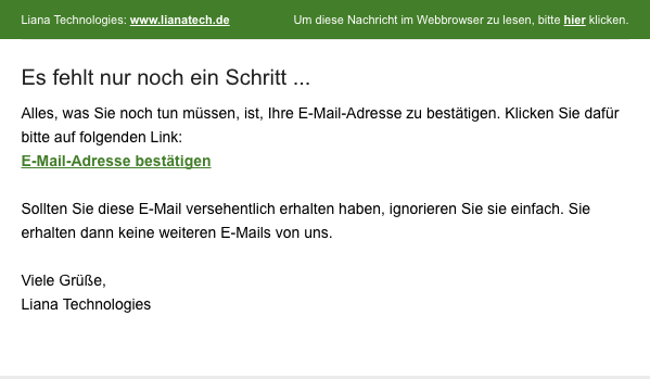 Opt-in Nachricht E-Mail-Marketing