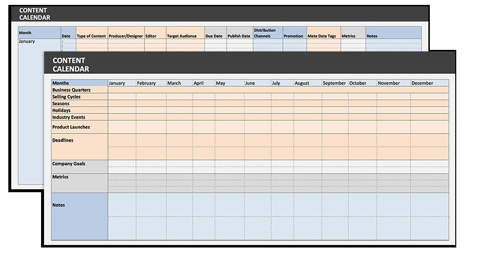 Die farbkodierte Kalkulationstabelle von Vertical Measures bietet sowohl eine Monats- als auch eine Gesamtjahresübersicht.