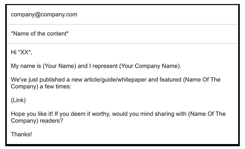 as Senden einer Follow-Up E-Mail ist ein gute Weg, ihnen das zu zeigen. Dadurch können sie ermutigt werden, die Inhalte mit ihren Social Media Followern zu teilen.
