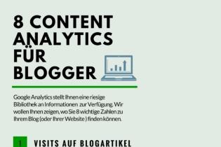 Infografik: 8 Content Analytics für Blogger